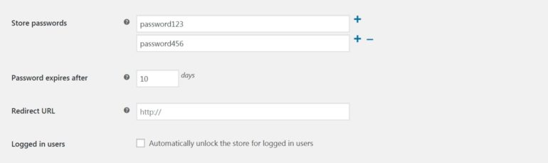 Adding passwords to WooCommerce Private Store.