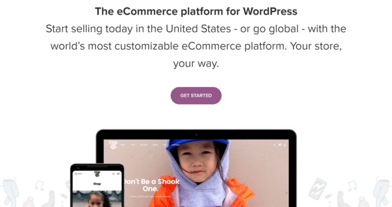 The WooCommerce website.