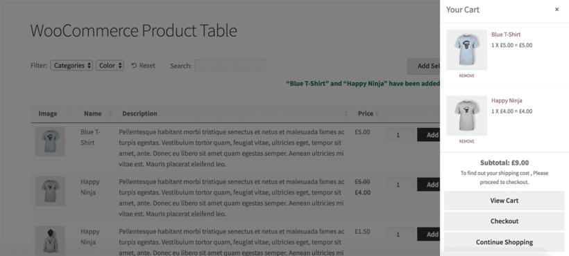 WooCommerce cart popup plugin