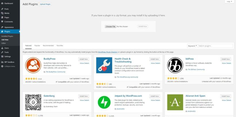 Adding a new plugin to WordPress.