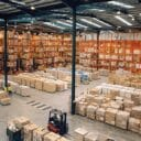A warehouse full of products.