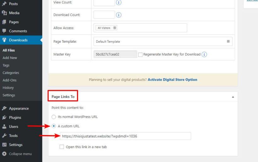 Page Links To plugin
