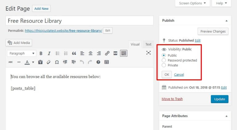 Private WordPress resource library