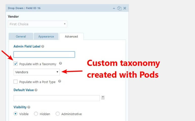 Add custom taxonomy for vendor