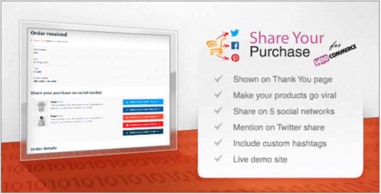 Share Your Purchase for WooCommerce