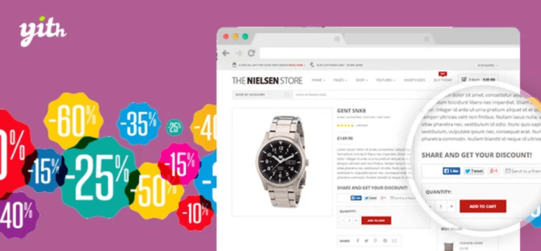 YITH WooCommerce Share for Discounts plugin