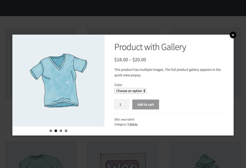 WooCommerce Image Lightbox Plugin with Bullet Navigation