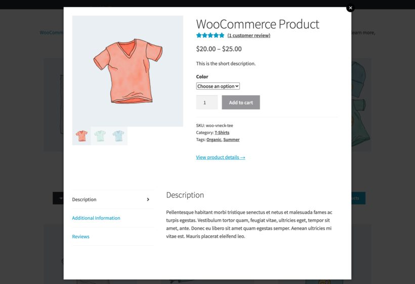 WooCommerce Quick View Lightbox with Product Variations