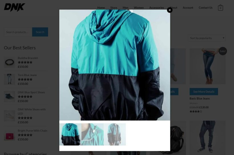 Only product gallery