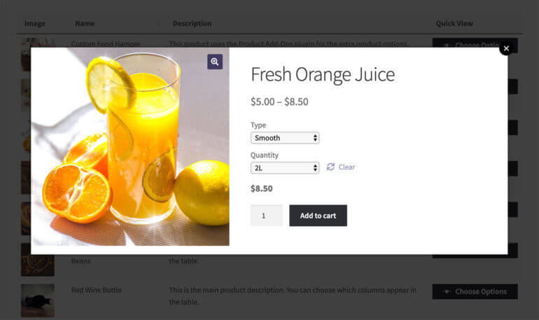 WooCommerce Quick View Plugin Build Your Own Product