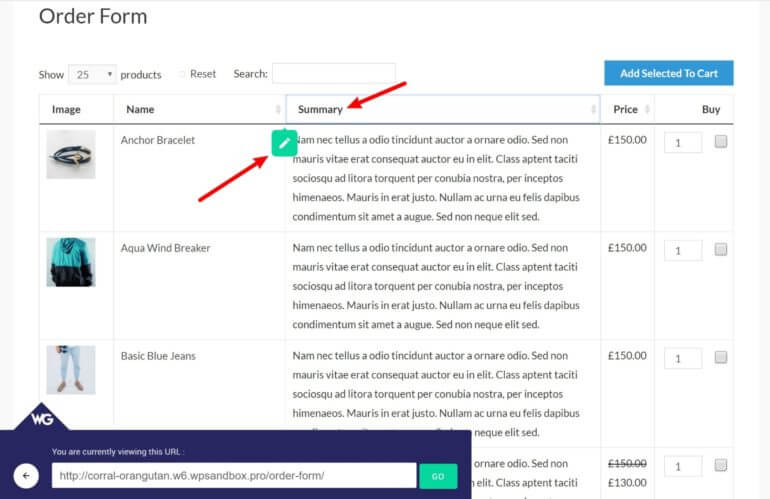 Using visual editor on WooCommerce product Table