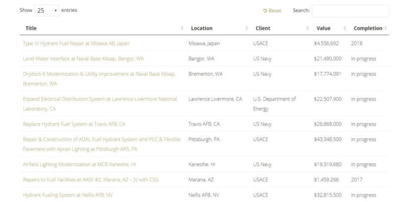 List WordPress custom post types on Nova Group website