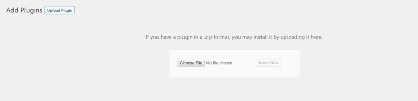 Adding a new plugin to WordPress.