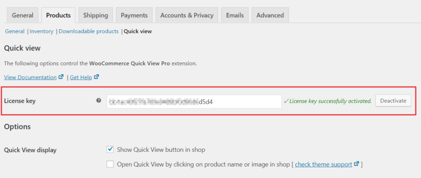 WooCommerce Quick View Pro license key