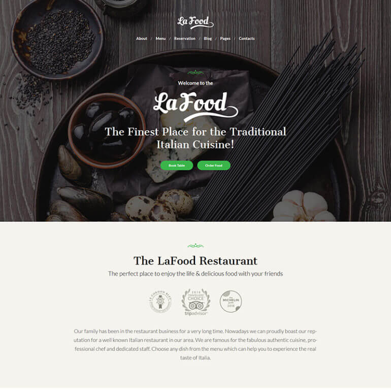 LaFood WP Restaurant Theme