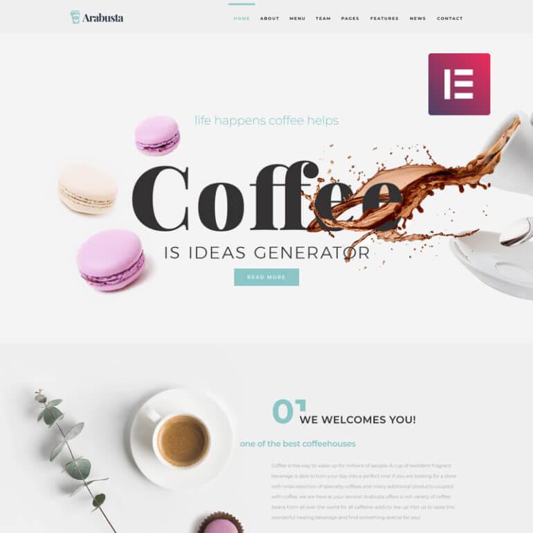 WordPress coffee theme