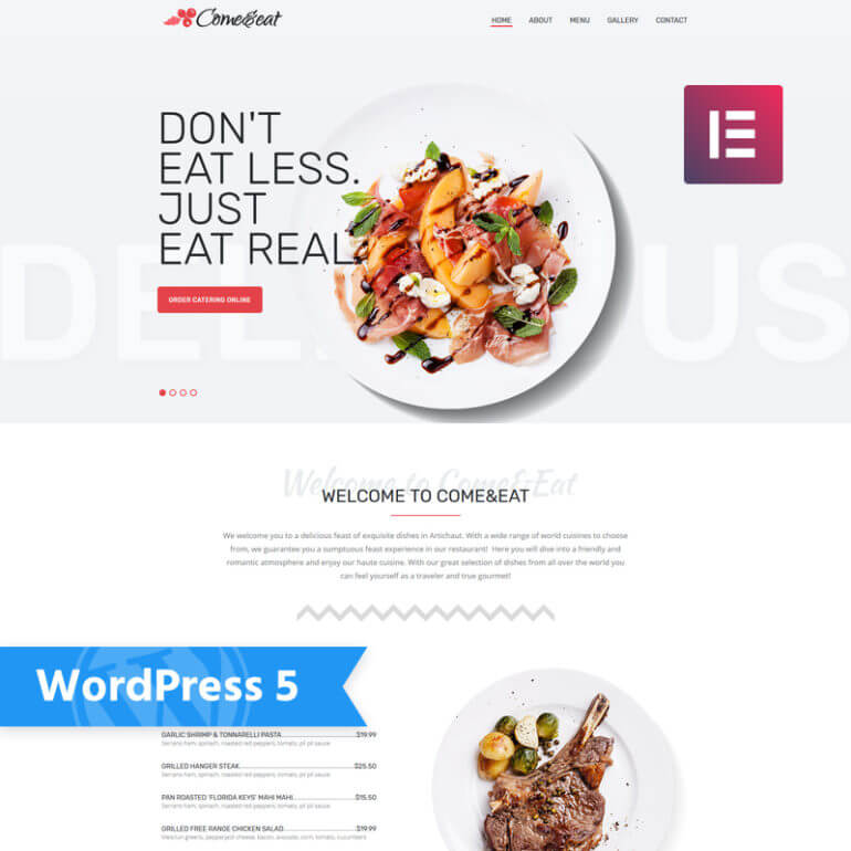 WordPress restaurant theme ComeEat