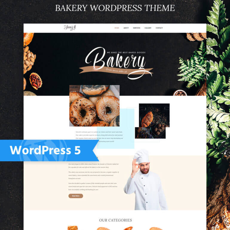 Yummies WordPress restaurant theme