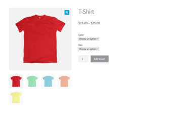WooCommerce variable product with dropdowns