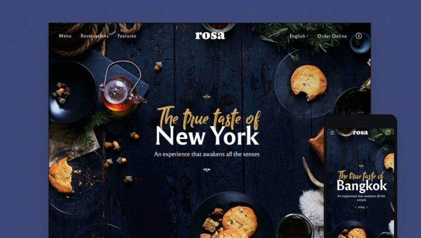 Rosa 2 WordPress restaurant theme