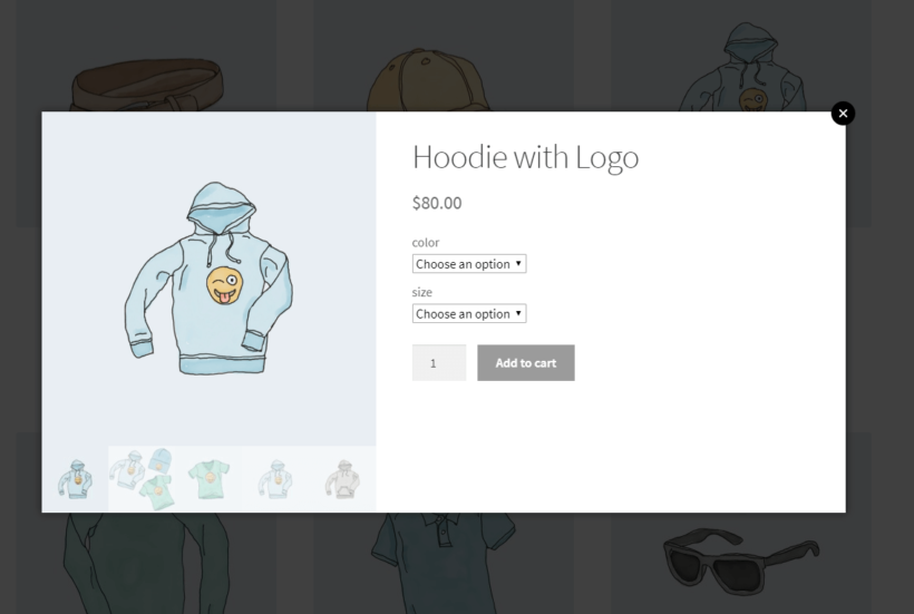 WooCommerce Quick View Pro with price and add to cart button
