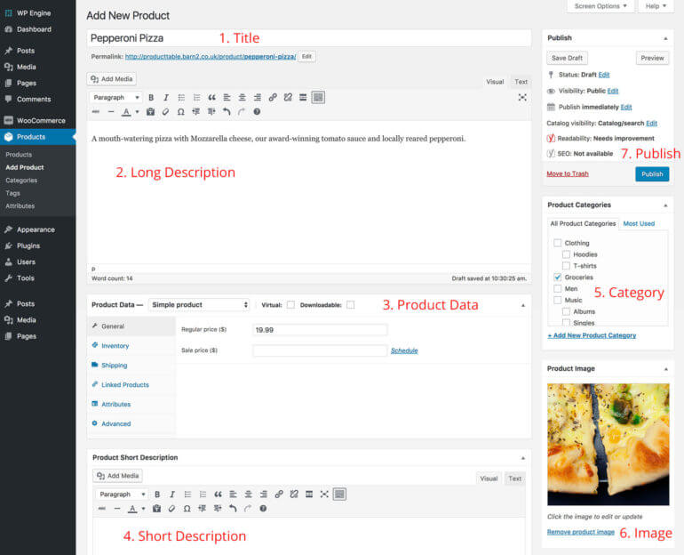 Add restaurant menu items as WooCommerce products