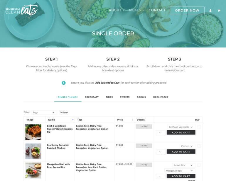 Real-life example of WordPress restaurant plugin