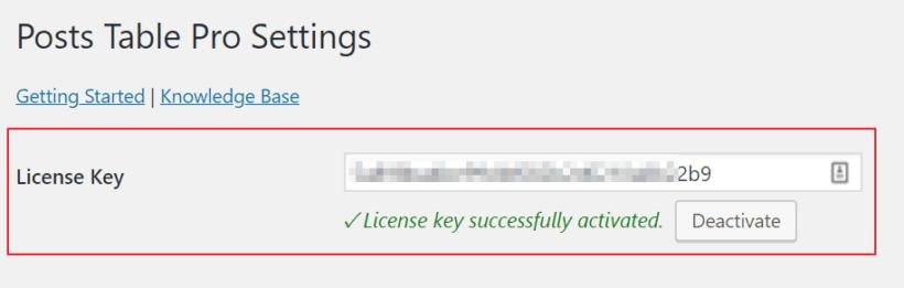 Posts Table Pro license key