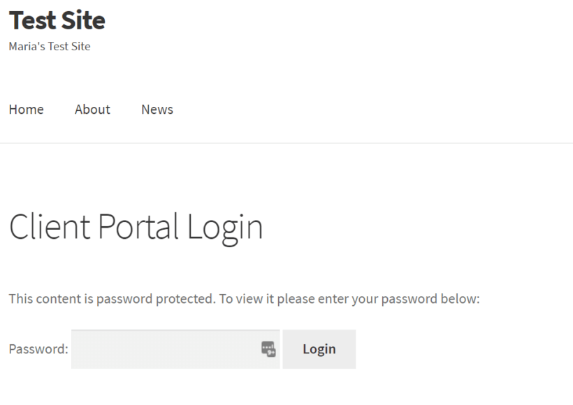 Preview of the centralized login page