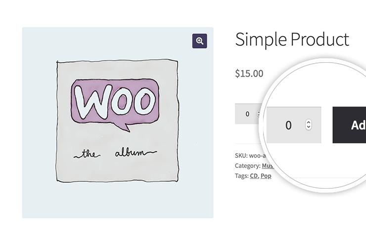 WooCommerce set default quantity to zero