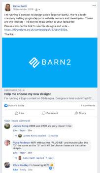 Facebook feedback on new logo
