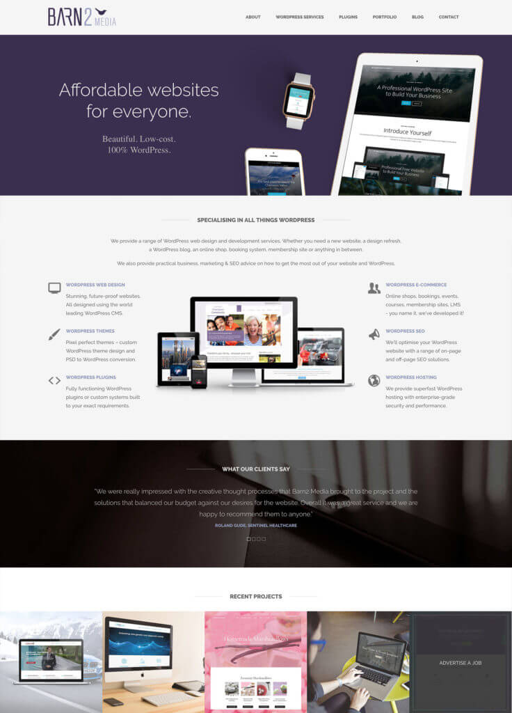 Old Barn2 web design homepage