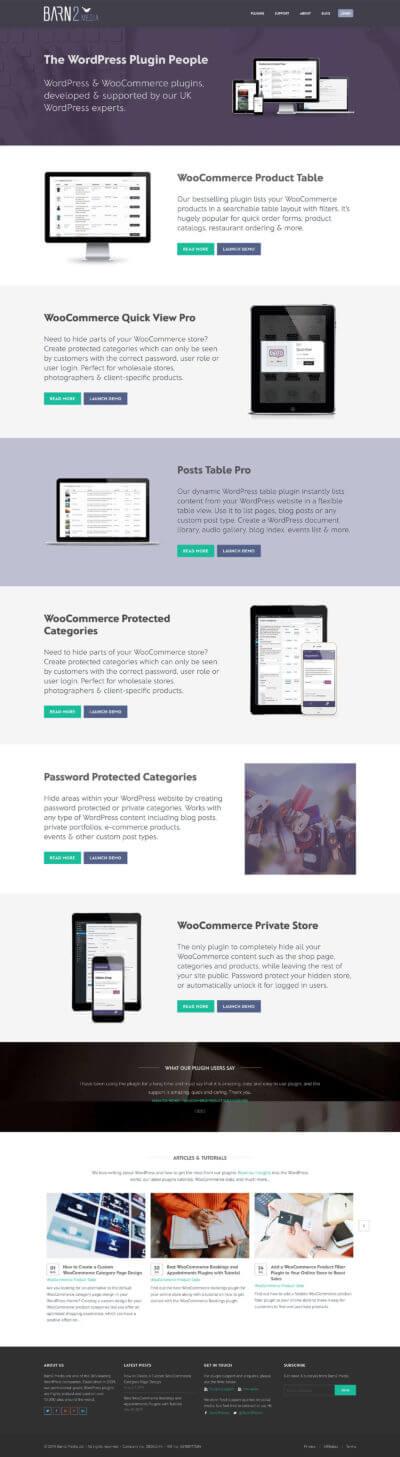 Old Barn2 plugins homepage