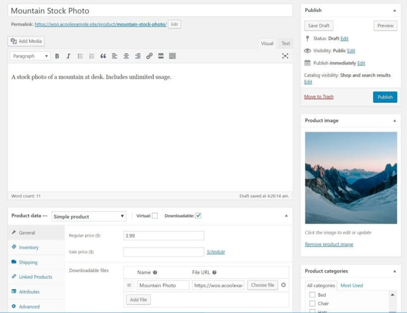 Add photos as WooCommerce products