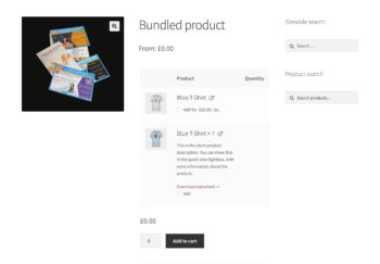 WooCommerce product bundles with default quantity