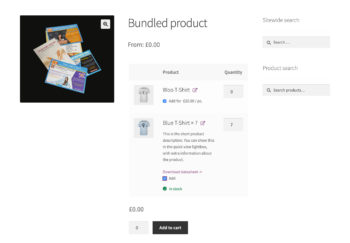 WooCommerce bundled product with default quantity