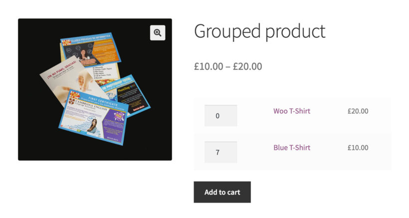 WooCommerce grouped product default quantity