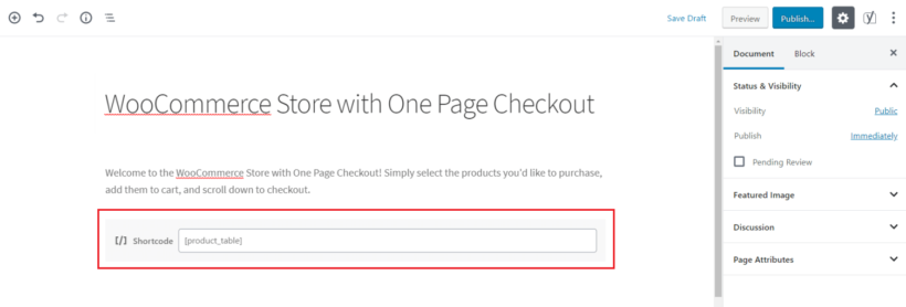 List products on WooCommerce one page checkout