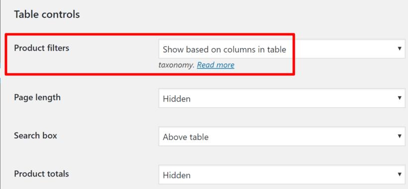 Configure online font store filters