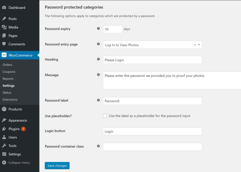 Configure login page