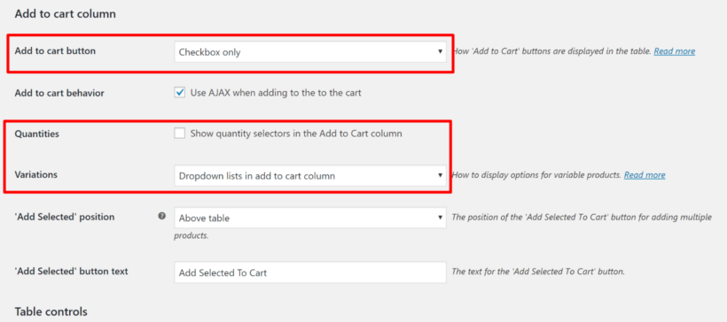 Configure add to cart