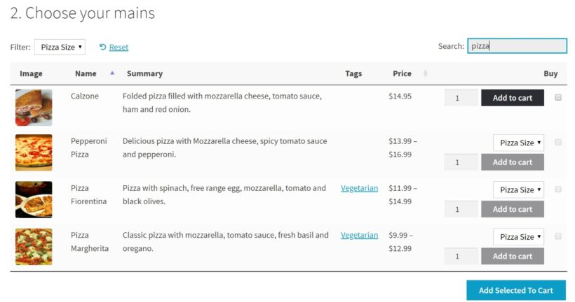 WooCommerce restaurant ordering system