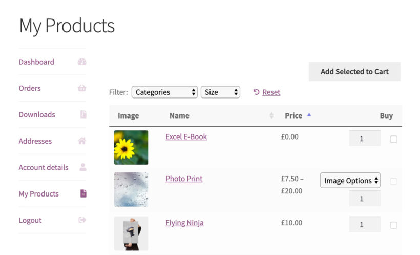 WooCommerce display previous orders by logged in user plugin