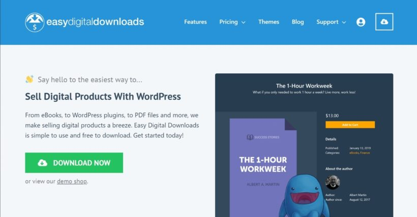 Easy Digital Downloads shopping cart for WordPress
