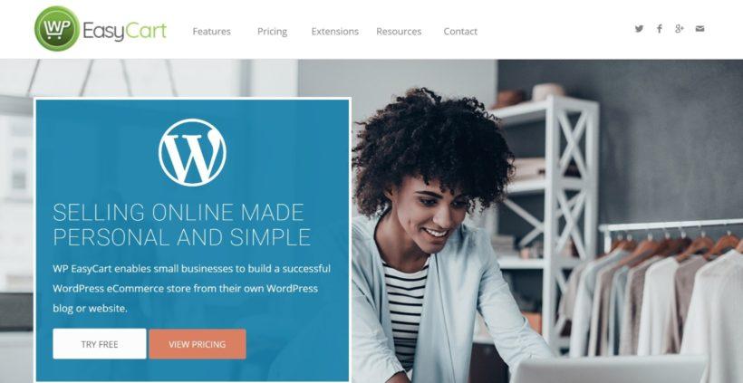 WordPress EasyCart shopping cart