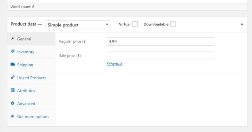 Product data box