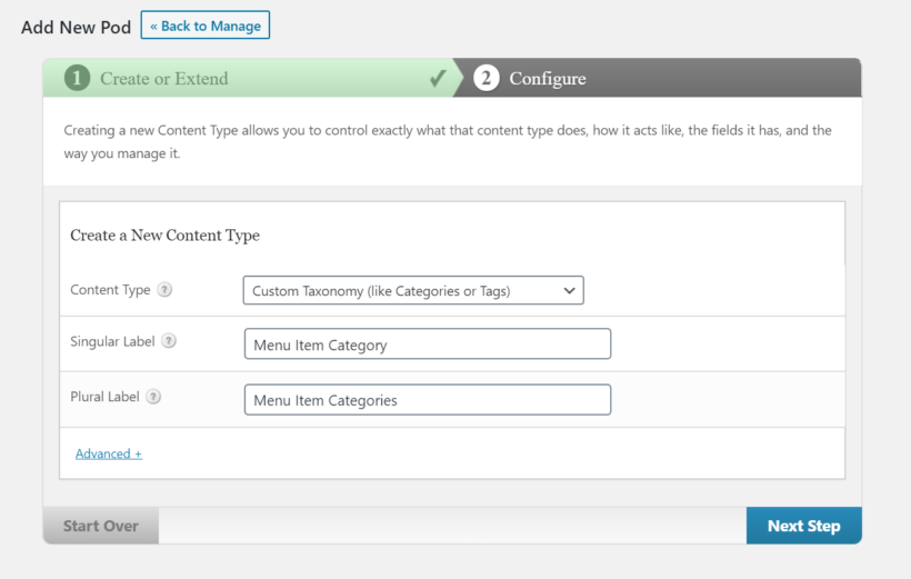 Create a new taxonomy pod using the Pods plugin.