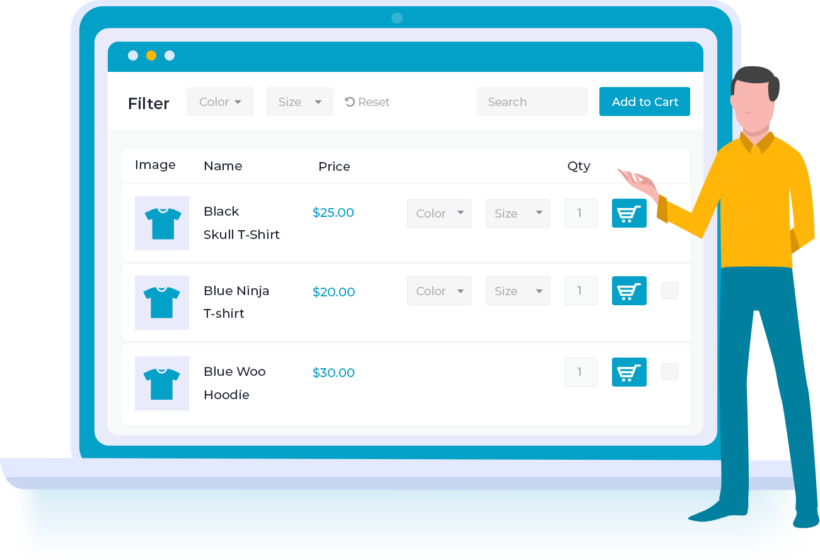 WooCommerce Product Table Trimmed