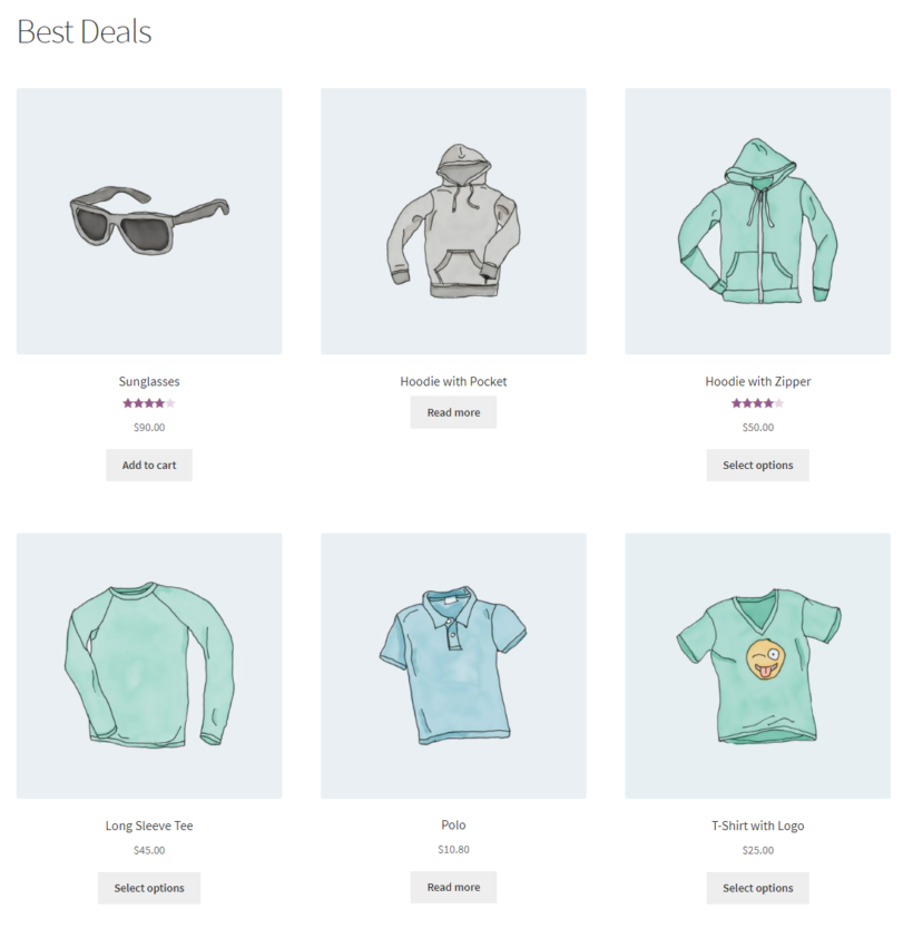 Displaying multiple WooCommerce products