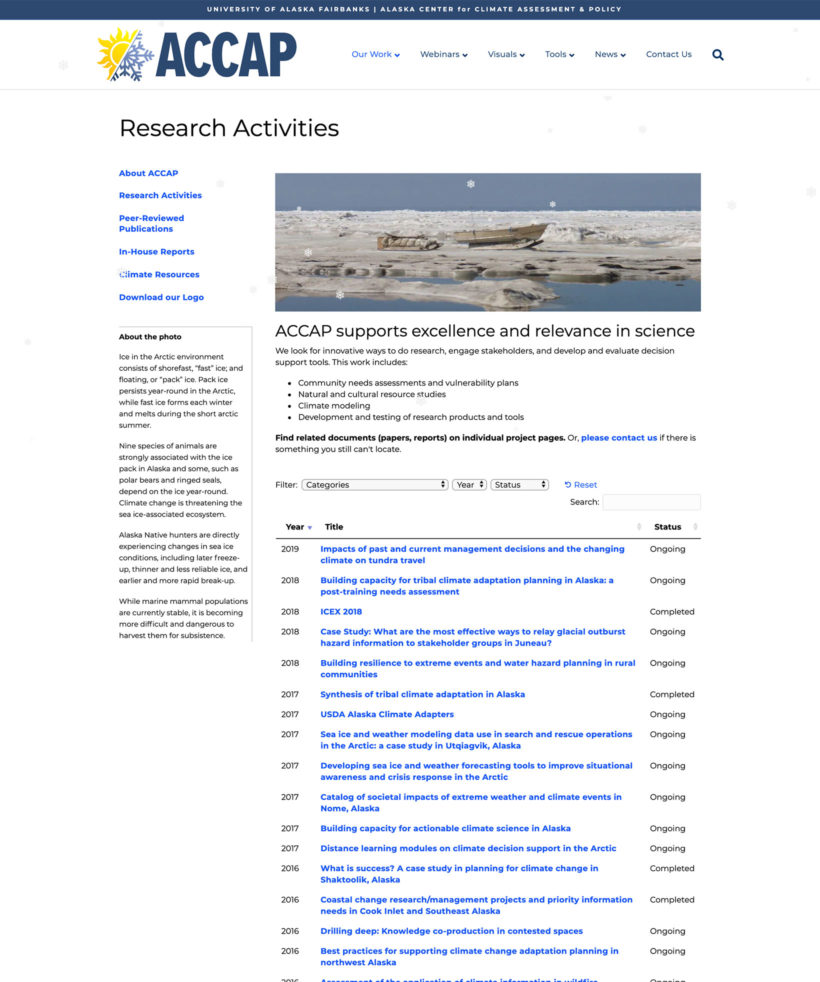 IACC Research Activities resource library
